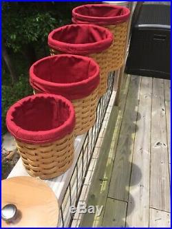 Longaberger 4 Pc Basket Canister Set New