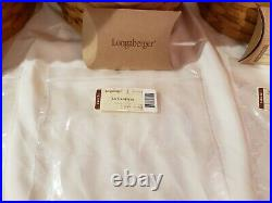 Longaberger 8 Pc Basket Canister Set-EUC! Tie Ons, Lids, 4Air Tight Containers