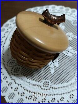 Longaberger Acorn Basket Set With Stand