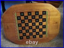 Longaberger All In One Game Basket Checkers Chess Backgammon Set with Protector