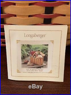 Longaberger All-american Hostess Block Party Basket Set 2002 Mint