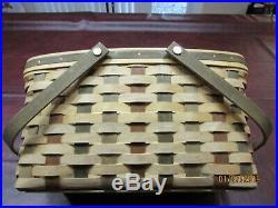 Longaberger American Craft Original ACT Medium Market Basket Set with NEW Lid