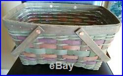 Longaberger American Craft Originals Medium Market Basket set MINT FREE SHIPPING