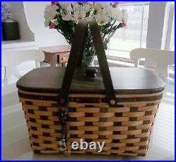 Longaberger American Craft Traditions Basket Set withLID + Bonus NEW Rare