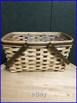 Longaberger American Craft Traditions Medium Market Basket Set New