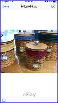Longaberger Basket 2003 Canister Complete Set with liners and Tags