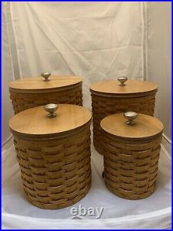 Longaberger Basket 4 Canister Set