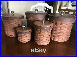 Longaberger Basket 5Piece Cannister Set