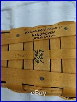 Longaberger Basket 7 Piece Lot Set Candy Corn Fall Halloween Crock 1997