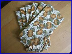 Longaberger Basket Autumn Fall PUMPKIN PATCH Fabric 6 Placemats & 6 Napkins Set