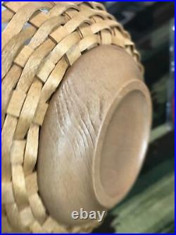 Longaberger Basket Bowl Set 13,11 & 9 Hard Plastic Bowls Lids + 1 Liner Unused