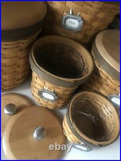 Longaberger Basket Canister Set