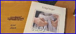 Longaberger Basket Canister Set With Sealed Plastic Inserts and Lids 20 pc
