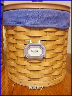 Longaberger Basket Canisters Set of 3 Dated 2003 Retired