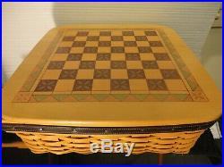 Longaberger Basket Checkerboard Chess and Checker Set. 2001