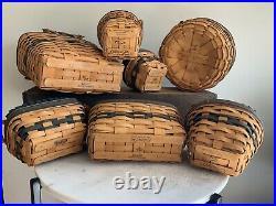 Longaberger Basket Collectors Club Rare Member Set (7 Pc)