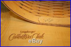 Longaberger Basket Harmony Set of 5 Collectors Club 2001