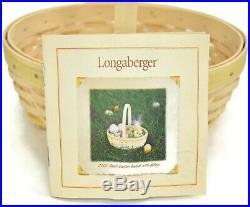 Longaberger Basket Large and Small Whitewashed Oval Easter Set 2002