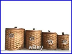 Longaberger Basket Weave Canister Set (4)
