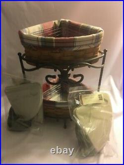 Longaberger Basket Wrought Iron Foundry Corner Shelf, 11 piece Set/Lot/Bundle