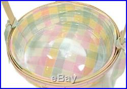 Longaberger Baskets Large and Small Whitewashed Easter Set 2001