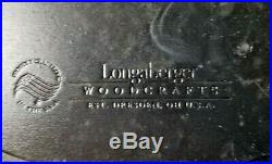 Longaberger Black Bat Dish And Oval Basket Set With Lid
