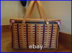 Longaberger Block Party Basket Set with Lid All American 02 shipping included