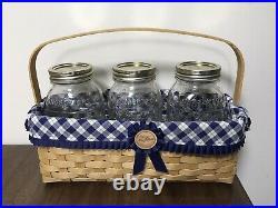 Longaberger Blue Ribbon Canning Basket Set