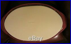 Longaberger Bold Red Oval ServingTray Basket Set and Lidded Protector
