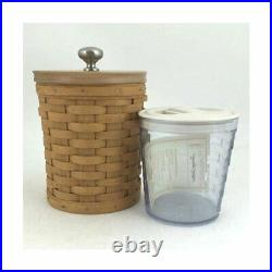Longaberger Butternut CANISTER BASKET SET 4-Liners Made in USA S, M, L, XL