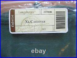 Longaberger CANISTER Extra Large Large Medium Small Basket IVY LINER Set