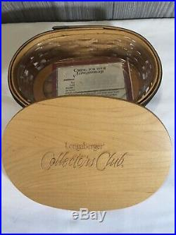 Longaberger CC Harmony Stacking Baskets withProtectors & Inserts Set of 5