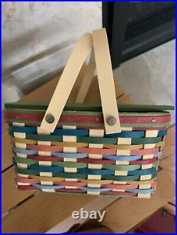 Longaberger CC Miniature Life's A Picnic Series Full Set 4 baskets & table