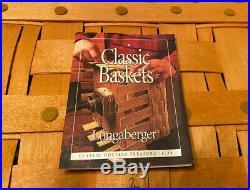 Longaberger CLASSIC HOSTESS TREASURE BASKET SET with Protector, Custom Leaf Lid