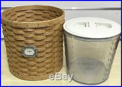 Longaberger Canister Basket Set 2004 with Protectors and Label Tie-Ons
