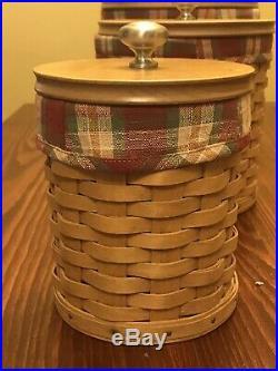 Longaberger Canister Basket Set Set Of 4