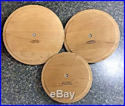 Longaberger Canister Set 2004 with Woodcraft Lids Retired