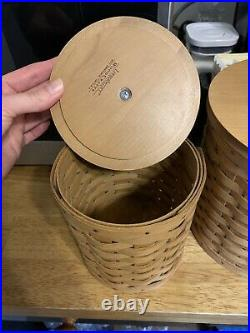 Longaberger Canister Set, Lids, 4 Containers