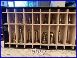Longaberger Chess Set BRONZE & PEWTER terrific condition all pieces present