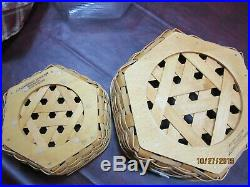 Longaberger Classic 14 and 10 Generation Orchard Plaid Basket Sets
