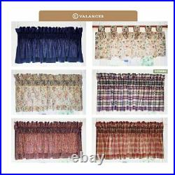 Longaberger Classic Blue VALANCE SET 3-Valances Made in USA Brand New in Bags
