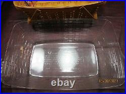 Longaberger Classic Hostess Treasure Basket Set with Lid and 2 NEW Liners