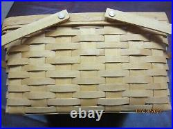 Longaberger Classic Medium Market Basket Set with Lid