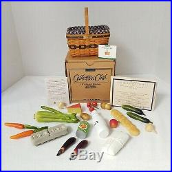Longaberger Collector Club Miniature Market Set+Box+Groceries 1st IN SERIES RARE