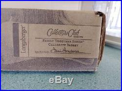 Longaberger Collector's Club Family Together Celebrate Basket set Cupcake NEW