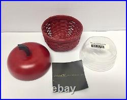 Longaberger Collectors Club 2007 Red Apple Basket Set New