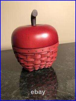 Longaberger Collectors Club 2007 Red Apple Basket Setnib