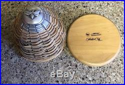 Longaberger Collectors Club 2010 Bee Hive Basket Set WithBox, Tags, Bee Tie-Ons
