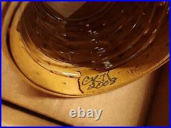 Longaberger Collectors Club Acorn Basket Set Mint in Box Oak Leaf Stand 2008