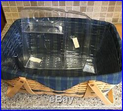 Longaberger Collectors Club Family Picnic Basket Set & Lid